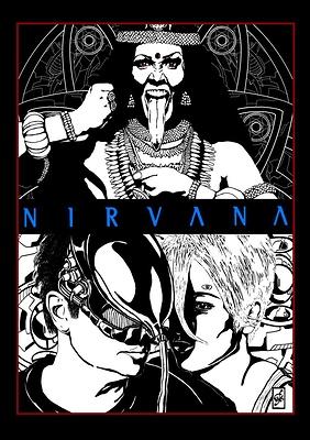 Nirvana, by  by Massimiliano Gatti; IG m.gatti httpmassimilianogatti.altervista.org illustation