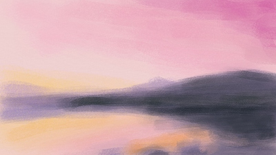 dawn at the lake - underpainting