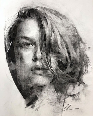 Looks like a vintage back and white photo - Charcoal drawing_