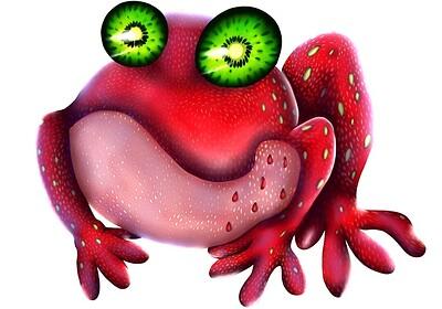Strawberry-Kiwi Frog