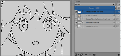 Black Visible Lineart