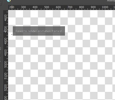 Failed to render animation frames
