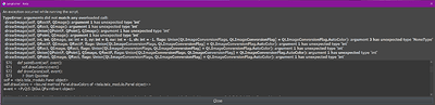 Tela - Script error - Version from 2021.07.06 on Krita 4.4.5 under Windows 10 64-Bit