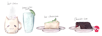 cakes and drinks