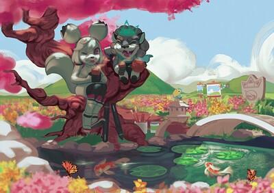 Leon and Kiki Art Contest Four Seasons (Spring Theme) Entry 2