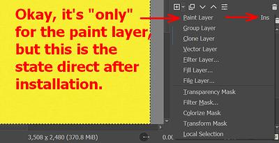 Paint Layer Hotkey - Insert