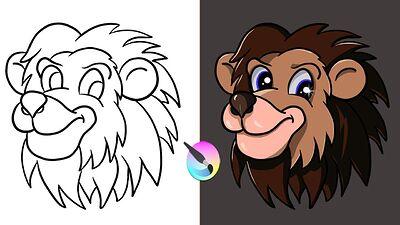 Video color a line art project