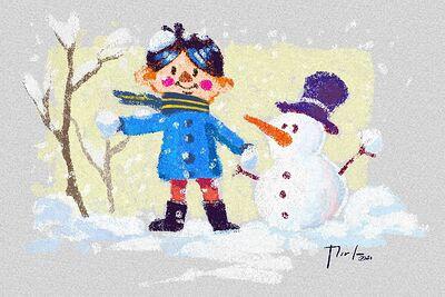 Niño bola de nieve