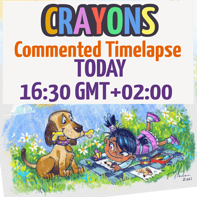 Today timelapse Crayons