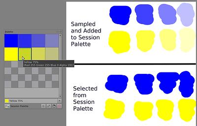 alpha in palette
