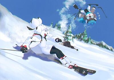 Leon and Kiki Art Contest Four Seasons (Winter Theme) Entry 1